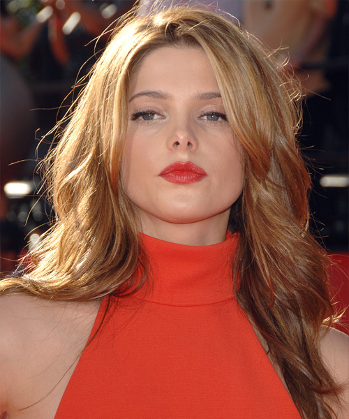 Ashley Greene Long Straight Hairstyle - Light Brunette (Auburn)
