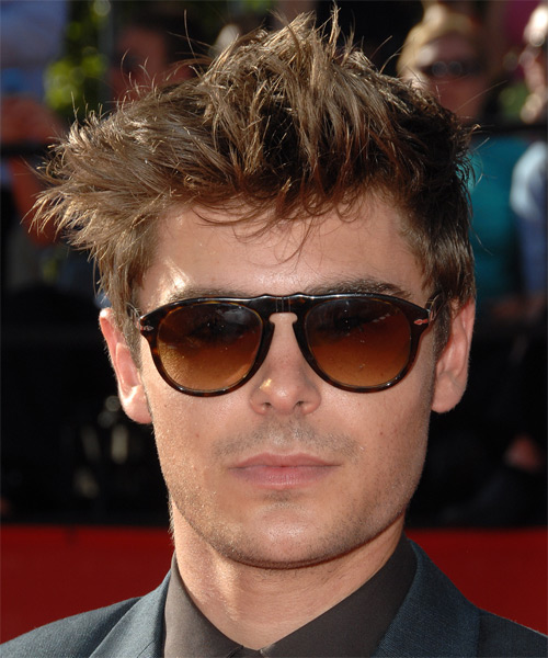 Zac Efron Short Straight Hairstyle - Medium Brunette (Chestnut)