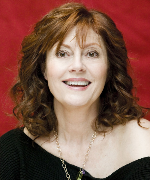 Susan Sarandon - Formal Medium Wavy Hairstyle