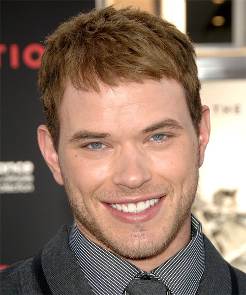 Kellan Lutz Short Straight Hairstyle - Dark Blonde (Copper)