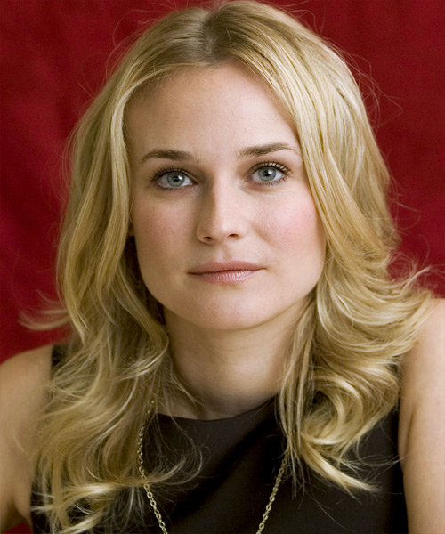 Diane Kruger - Casual Long Wavy Hairstyle
