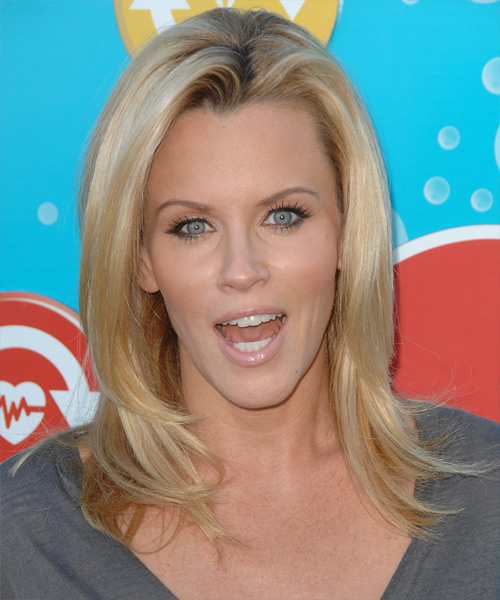 Jenny McCarthy Long Straight Casual Hairstyle - Light Blonde (Honey) Hair Color
