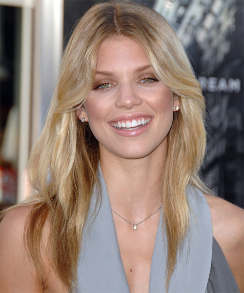 AnnaLynne McCord Long Straight Casual Hairstyle - Medium Blonde (Champagne) Hair Color