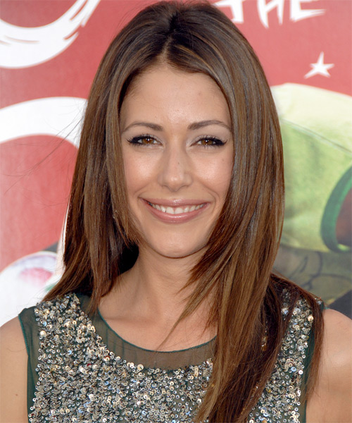 Amanda Crew - Casual Long Straight Hairstyle