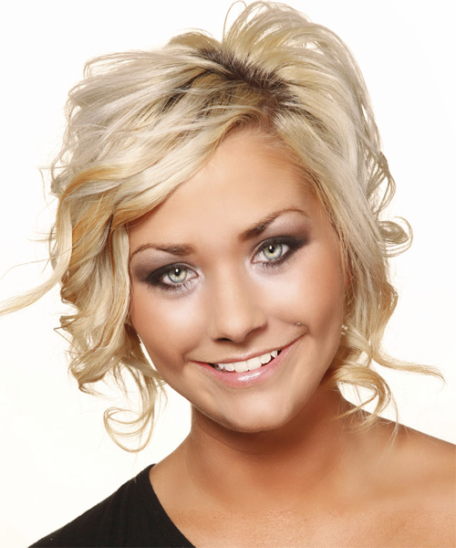 Medium Wavy Formal Hairstyle - Light Blonde