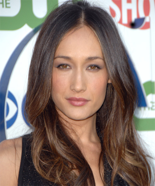 Maggie Q Long Wavy Casual Hairstyle