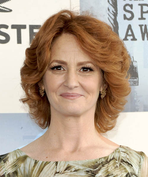 Melissa Leo Medium Wavy Formal Hairstyle