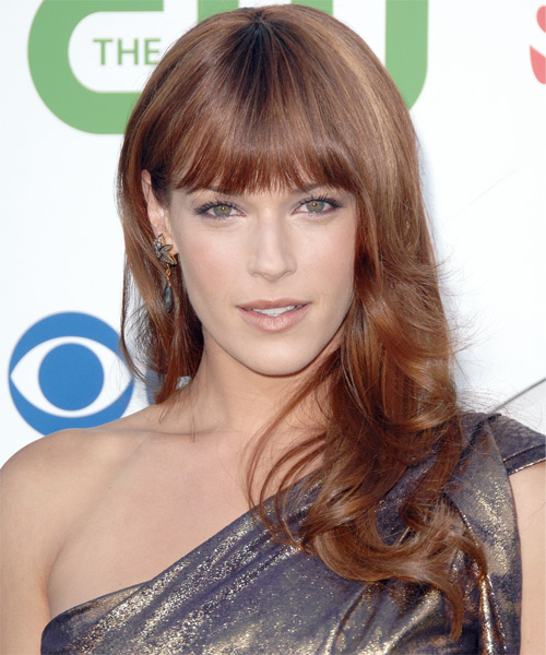Amanda Righetti Long Straight Hairstyle - Light Red