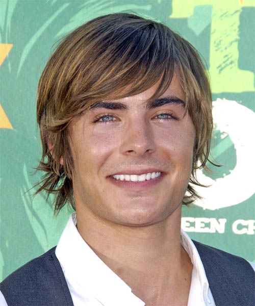 Zac Efron Short Straight Casual  - Dark Blonde