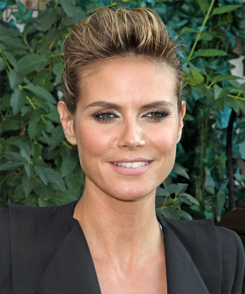 Heidi Klum Curly Casual Updo Hairstyle