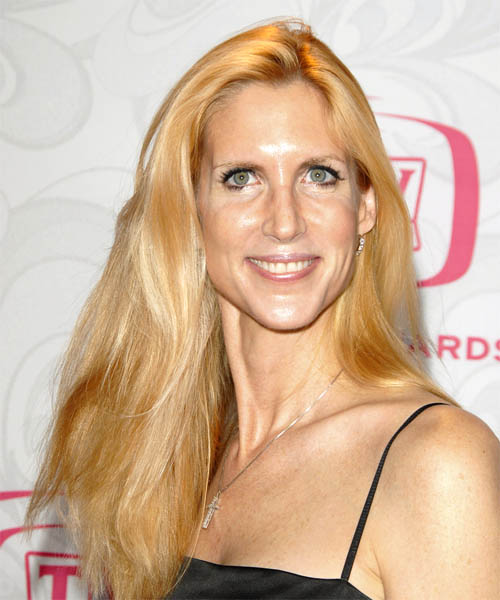 Ann Coulter - Casual Long Straight Hairstyle