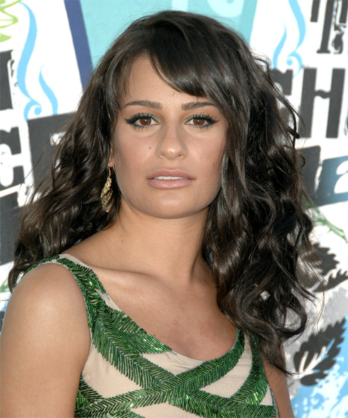 Lea Michele Long Wavy Casual Hairstyle