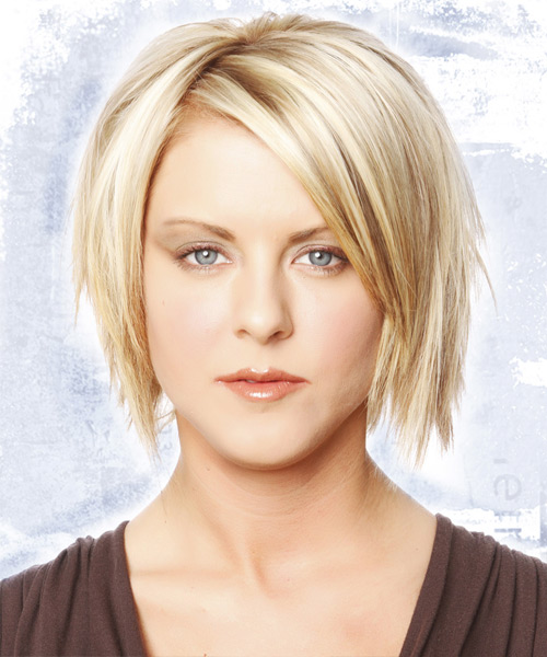 Funky blonde medium length School hairstyle