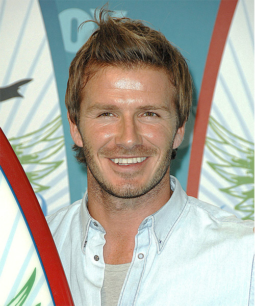 David Beckham Short Straight Hairstyle - Dark Blonde