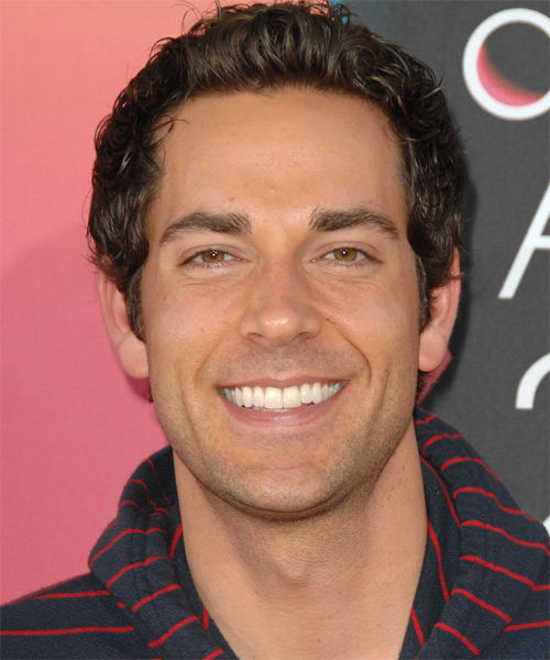 Zachary Levi Short Wavy Casual Hairstyle - Medium Brunette (Chocolate) Hair Color