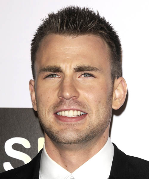 Chris Evans - Casual Short Straight Hairstyle