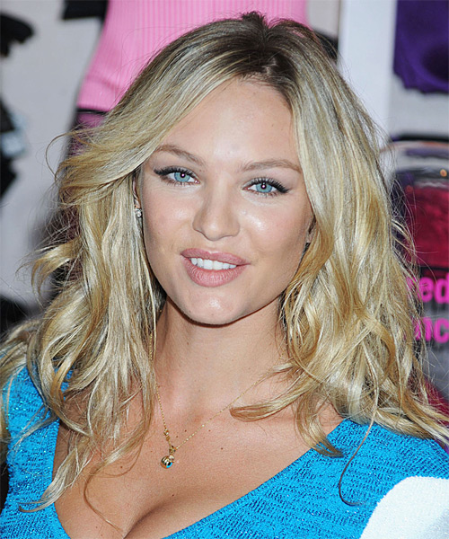 Candice Swanepoel - Casual Long Wavy Hairstyle