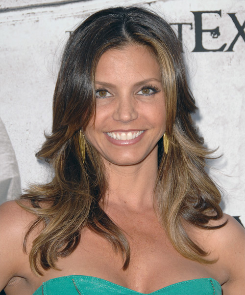 Charisma Carpenter Long Wavy Hairstyle