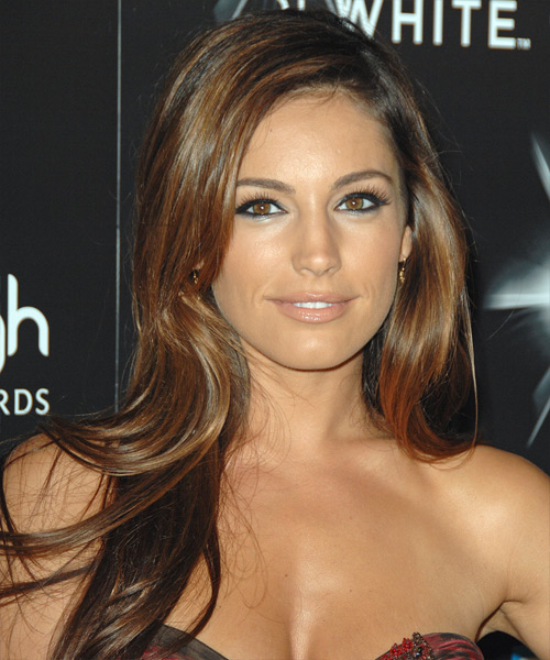 Kelly Brook Long Straight Casual Hairstyle