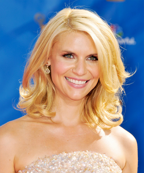Claire Danes Medium Wavy Formal Hairstyle