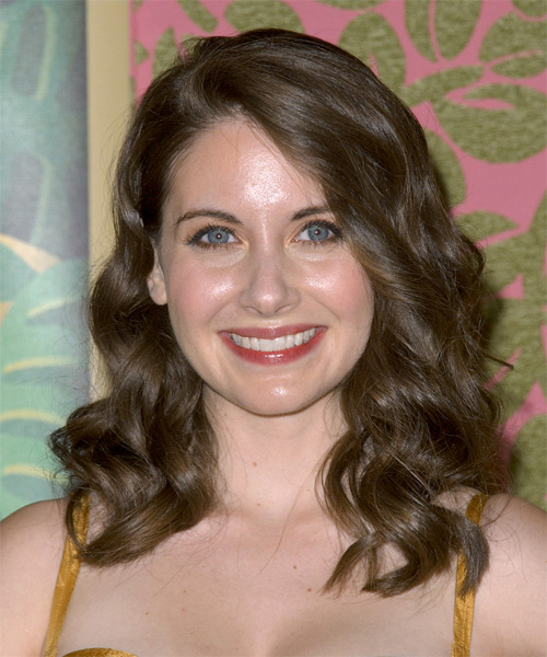 Alison Brie Long Wavy Formal Hairstyle