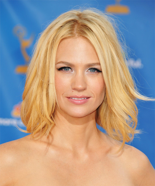 January Jones Medium Straight Hairstyle