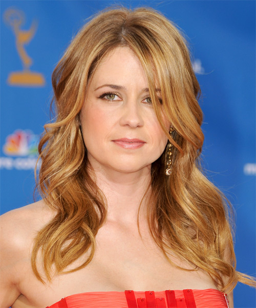 Jenna Fischer Long Wavy Hairstyle