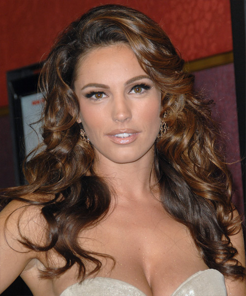 Kelly Brook Long Wavy Formal Hairstyle