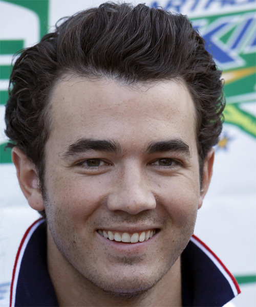Kevin Jonas Short Wavy Formal Hairstyle