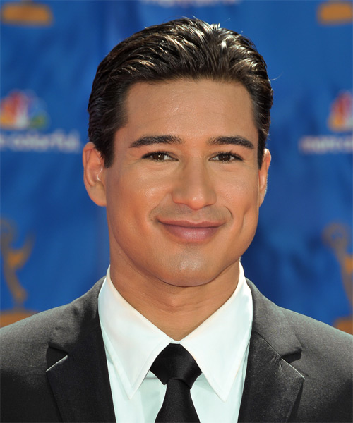 Mario Lopez Short Straight Hairstyle - Dark Brunette