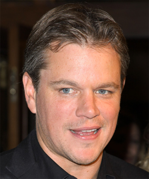 Matt Damon Short Straight Hairstyle - Light Brunette