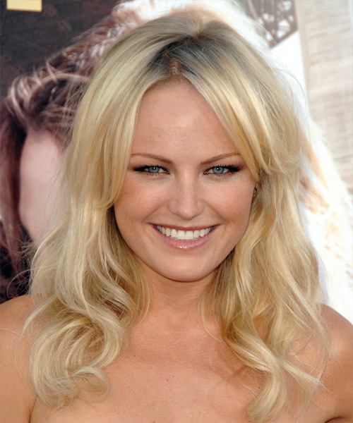 Malin Akerman Long Wavy Casual Hairstyle - Light Blonde Hair Color