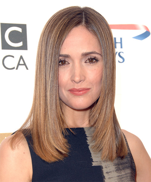 Rose Byrne Long Straight Formal Hairstyle