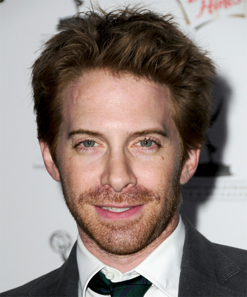 Seth Green Short Straight Hairstyle - Medium Brunette (Ash)