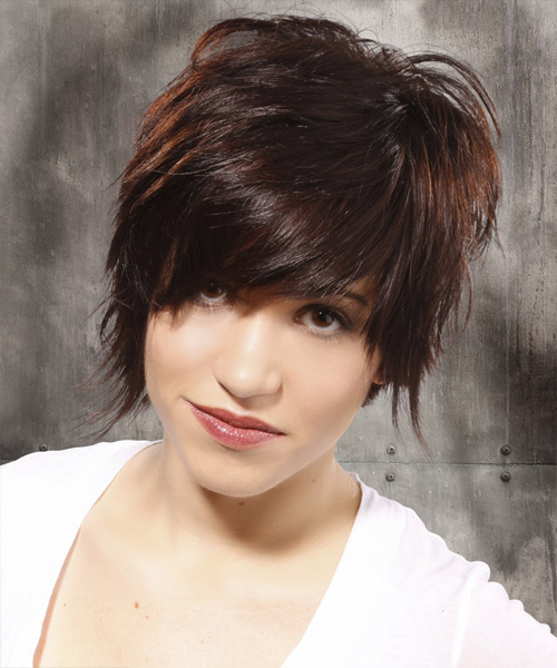 Short Straight Casual Hairstyle - Medium Brunette (Mocha)
