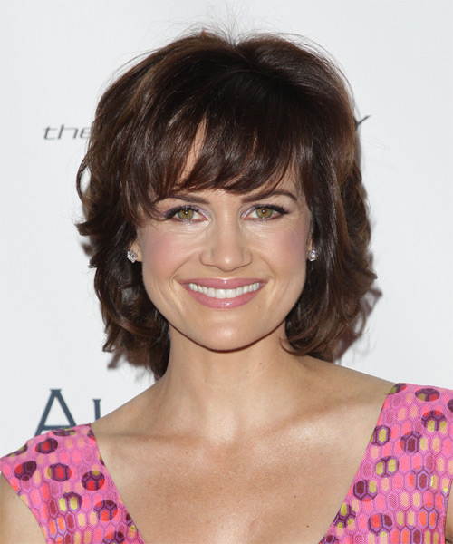 Carla Gugino Medium Wavy Formal Hairstyle