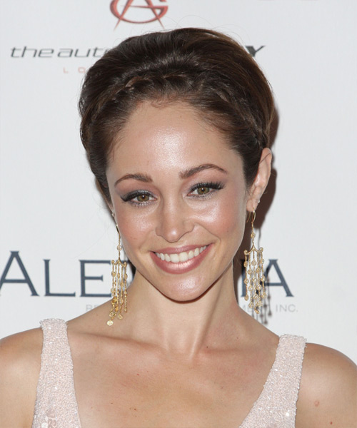 Autumn Reeser Updo Long Straight Formal