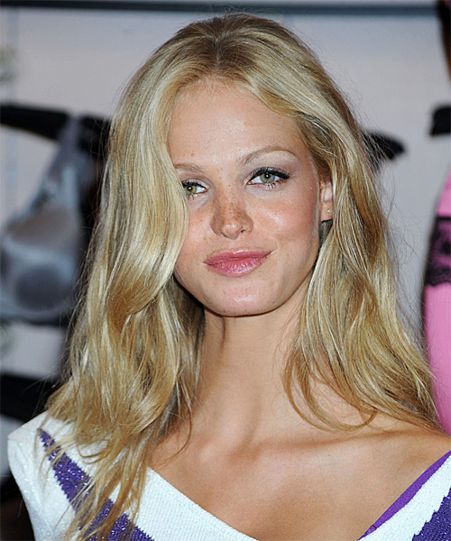 Erin Heatherton - Casual Long Straight Hairstyle