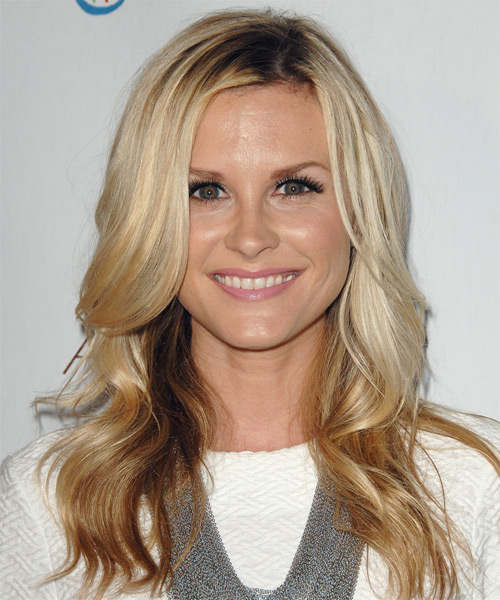 Bonnie Somerville Long Wavy Casual Hairstyle - Light Blonde Hair Color