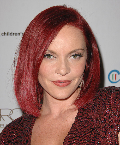 Carmit Bachar Medium Straight Hairstyle