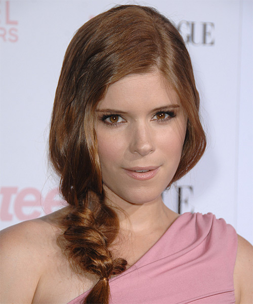 Kate Mara Casual Curly Updo Hairstyle