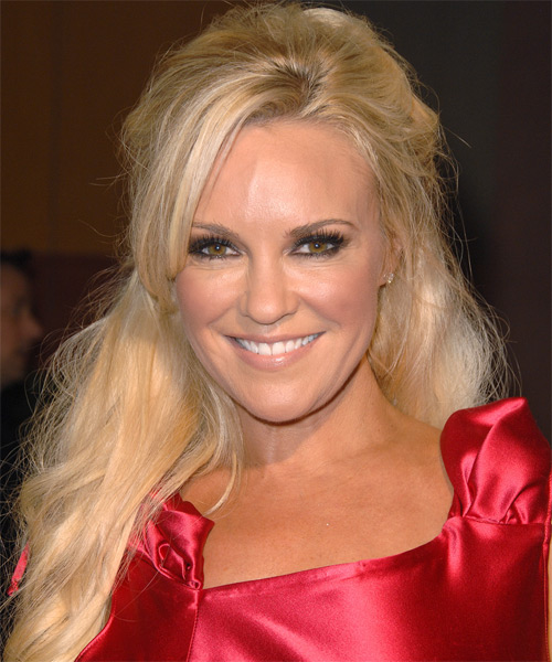 Bridget Marquardt Casual Straight Half Up Hairstyle - Light Blonde (Strawberry)