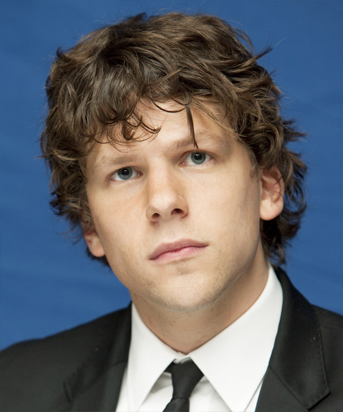 Jessie Eisenberg - Casual Short Curly Hairstyle