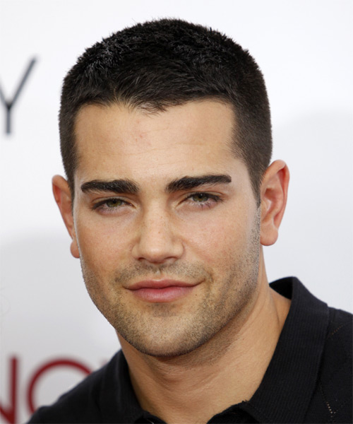 Jesse Metcalfe Short Straight Casual Hairstyle - Black (Mocha) Hair Color