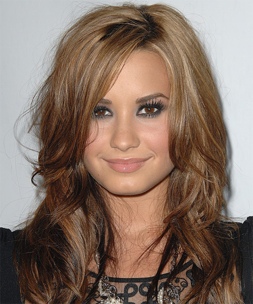 Demi Lovato Long Straight Casual Hairstyle