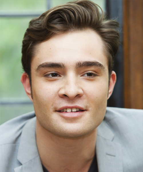 Ed Westwick Short Straight Casual Hairstyle - Asymmetrical Hairstyles