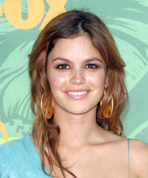 Rachel Bilson Long Wavy Hairstyle - Medium Brunette (Auburn)