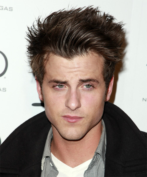 Jared Followill Short Straight Hairstyle - Medium Brunette (Ash)