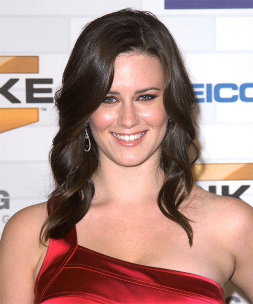 Katie Featherston Long Wavy Formal Hairstyle