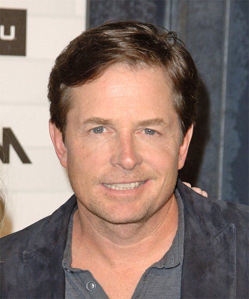 Michael J Fox Short Straight Hairstyle